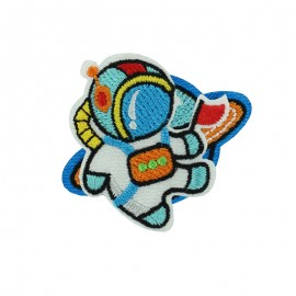 Crazy Space iron on patch - spaceman
