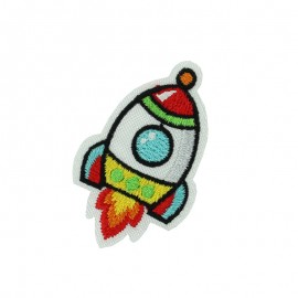 Crazy Space iron on patch - rocket