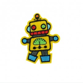Crazy Space iron on patch - small robot
