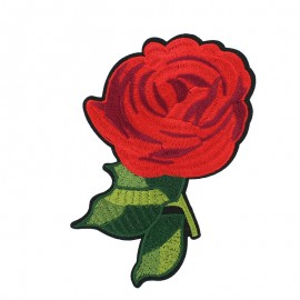 Old School Flower iron on patch  - rose E
