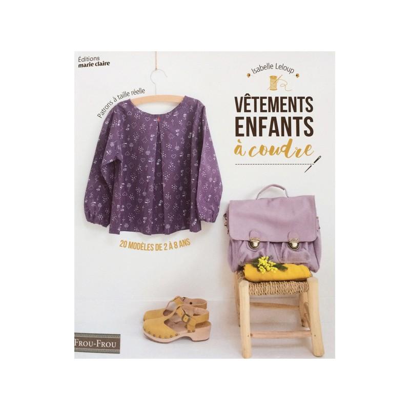 734fe97714395 Livre Vêtements enfants à coudre Frou-Frou d Isabelle Leloup
