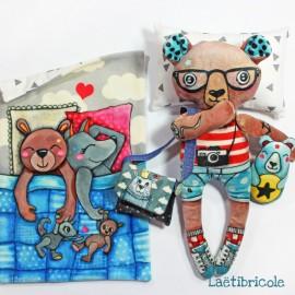 Laëtibricole soft animal kit - Teddy bear