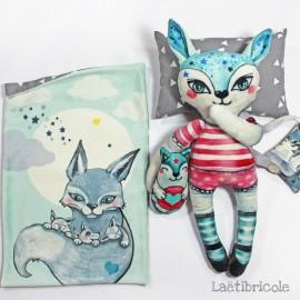 Laëtibricole soft animal kit - She wolf