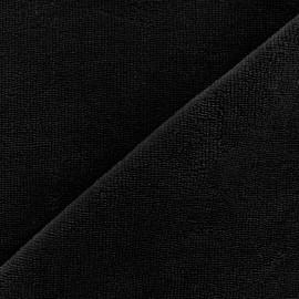 Tissu éponge Bambou - noir x 10cm