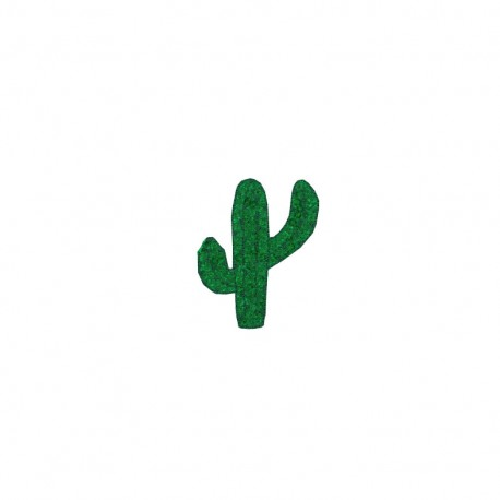 Tropicana sequins iron-on patch - cactus
