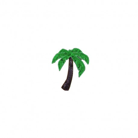Tropicana sequins iron-on patch - palm tree