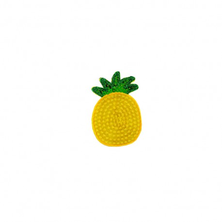 Tropicana sequins iron-on patch - pineapple