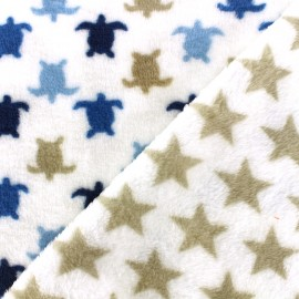Double sided baby's security blanket Hermann - navy x 10cm