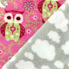 Double sided baby's security blanket Juliane - fuchsia x 10cm