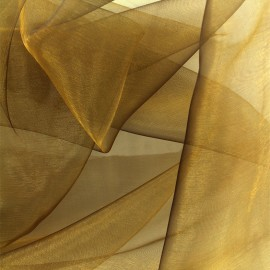 Organza Fabric - old gold x 50cm