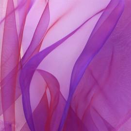 Tissu Organza - violine rouge x 50cm