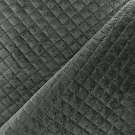 Quilted velvet fabric Baryton - anthracite x 10cm