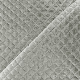 Quilted velvet fabric Baryton - grey x 10cm