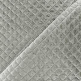 Tissu velours matelassé Baryton - gris x 10cm
