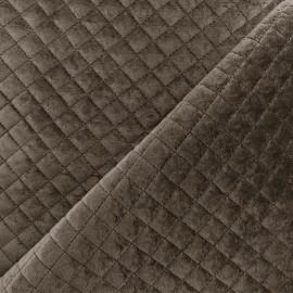 Tissu velours matelassé Baryton - brun x 10cm