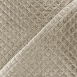 Tissu velours matelassé Baryton - taupe x 10cm