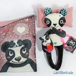 Le kit doudou Laëtibricole - Panda
