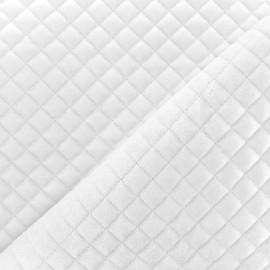 Tissu velours matelassé Baryton - blanc x 10cm