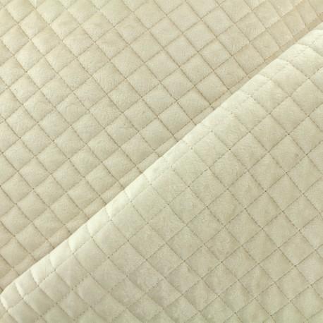 Quilted velvet fabric Baryton - ecru x 10cm