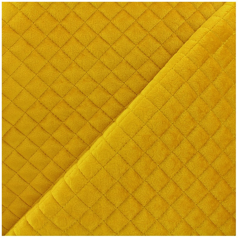 Quilted velvet fabric Baryton - yellow x 10cm - Ma Petite ...