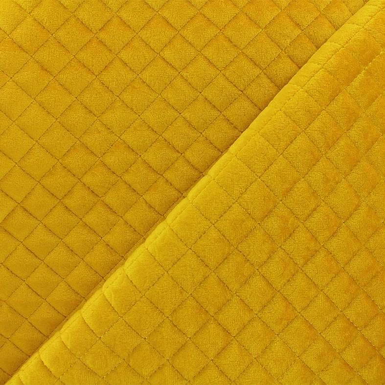 1c5b87349a72 Tissu velours matelassé Baryton - jaune x 10cm - Ma Petite Mercerie