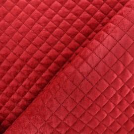 Tissu velours matelassé Baryton - rouge x 10cm