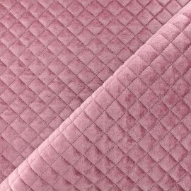 Quilted velvet fabric Baryton - lilac x 10cm