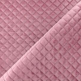 Tissu velours matelassé Baryton - lilas x 10cm