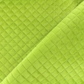 Quilted velvet fabric Baryton - green x 10cm