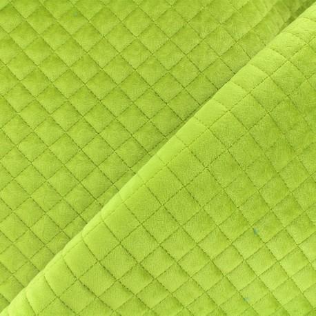 Quilted velvet fabric Baryton - green x 10cm