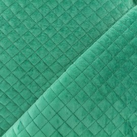 ♥ Coupon 250 cm X 145 cm ♥ Quilted velvet fabric Baryton - celadon