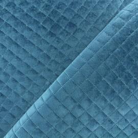 Tissu velours matelassé Baryton - bleu x 10cm