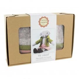 Kit créatif feutrine de laine - Henrietta la Louve