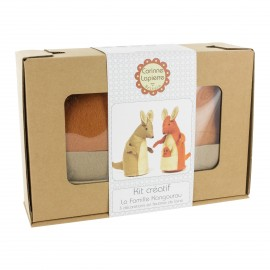Creative kit wool felt- The Kangaroo Family