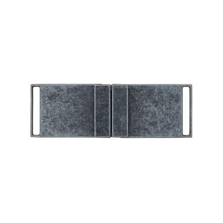 Boucle ceinture métal Georges - gris anthracite