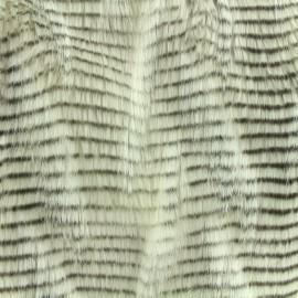 Fourrure haute qualité aspect faisan - écru x 10cm