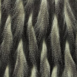 High quality pheasant aspect long fur - anthracite x 10cm
