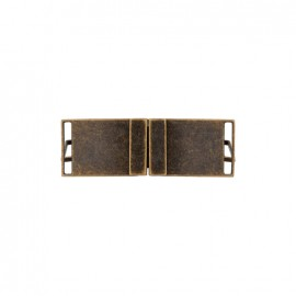 Georges metal belt buckle – dark gold