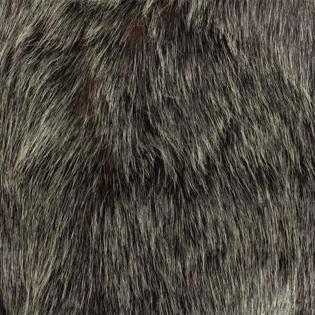 Fourrure haute qualité Abramo - anthracite/rouille x 10cm