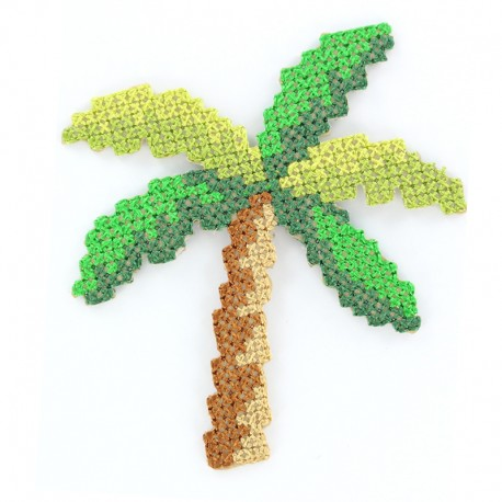 Tropicana canvas iron-on patch - palm tree