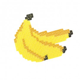 Tropicana canevas iron-on patch - banana