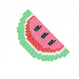 Tropicana canvas iron-on patch - watermelon