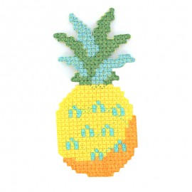 Tropicana canvas iron-on patch - pineapple