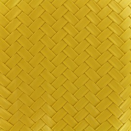 Imitation leather Panier - yellow x 10cm