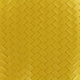 Simili cuir Panier - jaune x 10cm