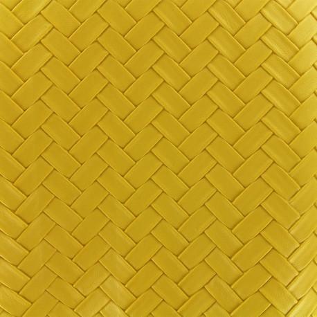 Imitation leather Panier - yellow x 10cm