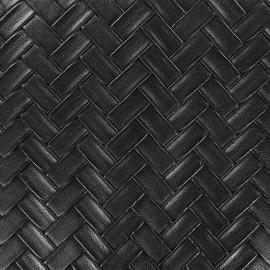 Simili cuir Panier - noir x 10cm