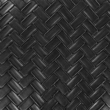 Imitation leather Panier - black x 10cm