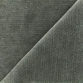 Tissu jacquard velours Oeko-tex Naos - gris x 10cm