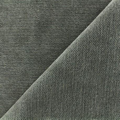Velvet jacquard Oeko-tex fabric Naos - grey x 10cm